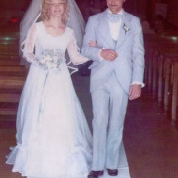 Carey's Mom and Dad - Carey Torrice's Parents getting married at St. Jude church in 1975