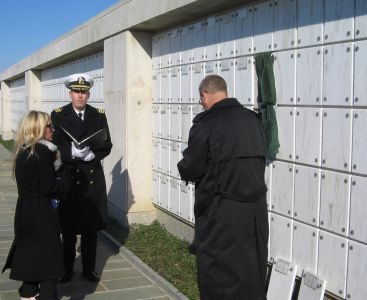 Arlington National Cemetery - Saying goodbye to my Father Sgt. Larry DeJaeghere USMC at Arlington National Cemetery 2005