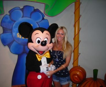 Carey and Mickey Mouse - Carey with superstar Mickey Mouse