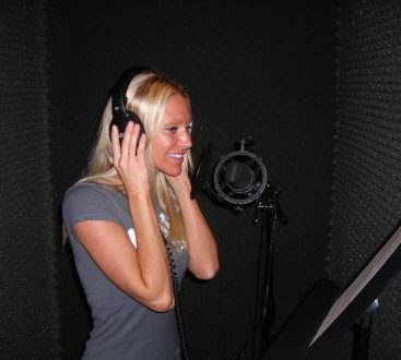 Voice-over - Carey Torrice doing a voice -over.