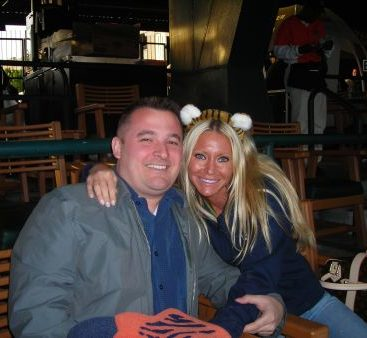 Tigers Fans - Carey Torrice and her husband