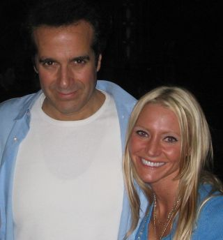 Carey and David Copperfield - Carey Torrice performs with legendary magician David Copperfield