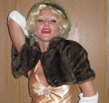 Carey as Marilyn Monroe - Carey gets ready to play Marilyn Monroe at an event booked through her agency. Carey plays Marilyn at birthday parties and many charity events.