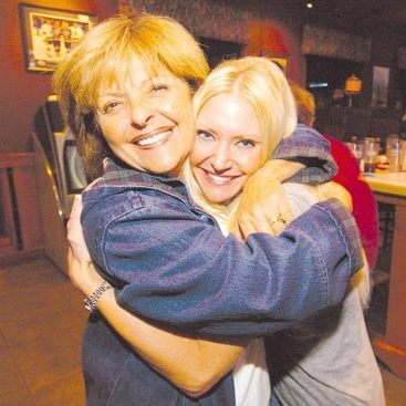 Carey's Mother in Law - Carey feels blessed to have such a supportive family.  Carey gets a big hug from her Mother in law Barbara Torrice on election night.