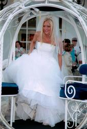 Cinderella's carriage - Carey's wedding day come true.  She still can't believe she got to ride in the Carriage to the alter.