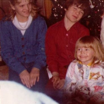 Christmas with the Family - Carey and her Siblings celebrate Christmas at home.  (From Left) Shannon