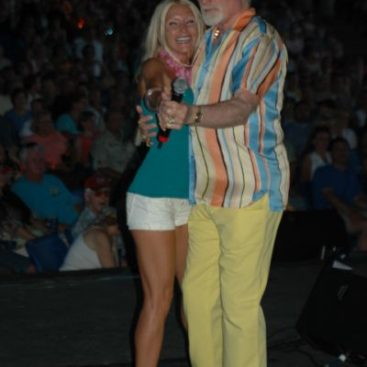 """Carey Torrice and The Beach Boys - Carey Torrice dancing to """"Surfer Girl"""" with legendary rock star Mike Love from The Beach Boys"""