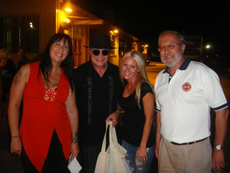 Carey with Mitch Ryder - Carey Torrice poses backstage with Detroit singer Mitch Ryder
