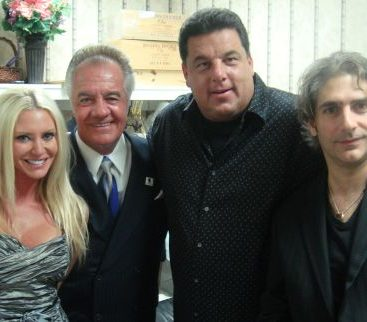 """Carey's ITALIAN connection - DON'T MESS WITH CAREY....or she might have you WACKED!!! Carey poses with her """"Italian"""" connections from the legendary hit TV series The Soprano's. From left to right: Commissioner Carey Torrice"""