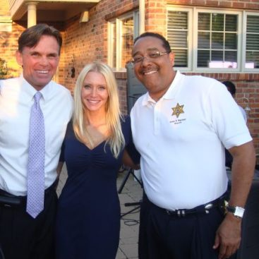 Carey with Sheriff Hackel and Sheriff Napoleon - Carey Torrice attends a fundraiser for Wayne County Sheriff Benny Napoleon.