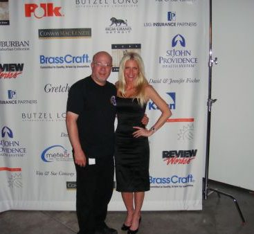 COTS Fundraiser - Carey supports COTS!  Carey poses with her friend John P. Lauri at The new home of J. Lauri Filmworks at Stage 3.