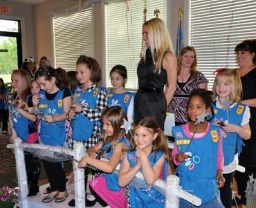 Girl Scout Bridging - Carey Torrice bridges the girl scouts as a guest speaker in Macomb Twp. at Sycamore Hills.
