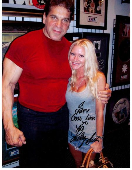 Carey with The Incredible Hulk - Carey Torrice poses with Lou Ferrigno