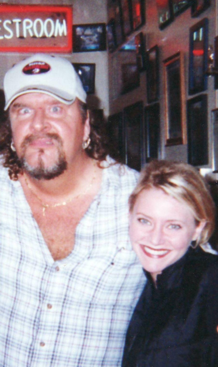 Carey with Ogar - Actor Donald Gibb fom Revenge of the Nerds
