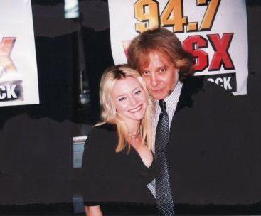 Carey with Eddie Money - Carey backstage in VIP at DTE with her friend Eddie Money.
