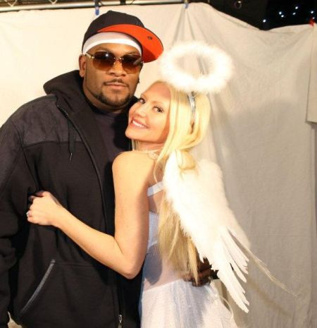 Carey Torrice and Trick Trick - Carey Torrice poses with Singer Trick Trick during a photo shoot.