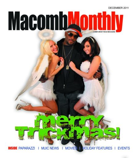 Macomb Monthly Photo Shoot - Carey Torrice poses for the Macomb Monthly cover with Singer Trick Trick and beauty casey.