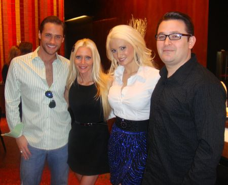 """Holly's World Season 2 - Carey and Michael Torrice working on """"Holly's World"""" with Josh Strickland and Holly Madison in Las Vegas."""