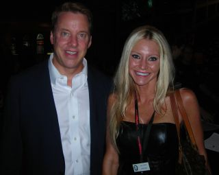 Carey and William Clay Ford - Macomb County Commissioner Carey Torrice with William Clay Ford at an event