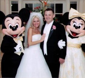 Torrice Wedding - Mickey and Minnie help The Torrice's celebrate their Disney World wedding reception