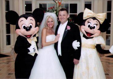 Torrice Wedding - Mickey and Minnie help The Torrice's celebrate their Disney World wedding reception